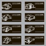 Grupo de cartões do carro Imagem de Stock Royalty Free