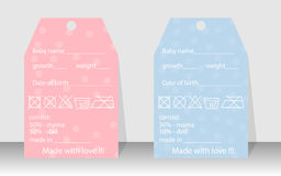 Grupo de cartões do convite do bebê, cartões de aniversário, cartaz, molde, cartões ilustração stock