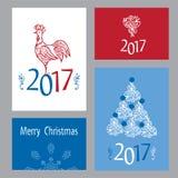 Grupo de cartões do Natal Foto de Stock