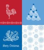 Grupo de cartões 2017 do Natal Imagens de Stock