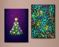 Grupo de cartões do Natal, ilustração ilustração stock