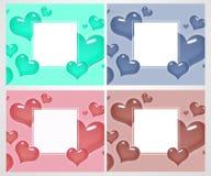 Grupo de cartões e de bandeiras do amor para o dia do ` s do Valentim Grande para o cartaz, menu, convites do partido, meios soci Fotos de Stock Royalty Free