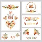 Grupo de cartões floral Imagens de Stock Royalty Free
