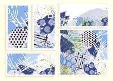 Grupo de cartões floral universal ilustração royalty free