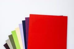 Grupo de cartões multi-coloridos Fotografia de Stock