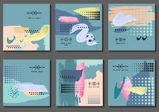 Grupo de cartões universais Foto de Stock
