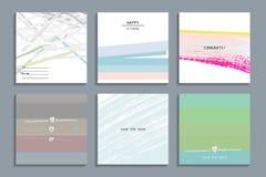 Grupo de cartões universais criativos artísticos Imagem de Stock