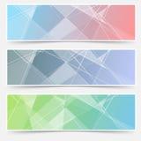 Grupo de cartões abstrato moderno da estrutura de cristal Imagens de Stock