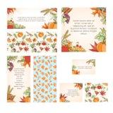 Grupo de cartão do dia de ação de graças Foto de Stock