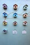 Grupo de casa do pássaro Fotografia de Stock Royalty Free