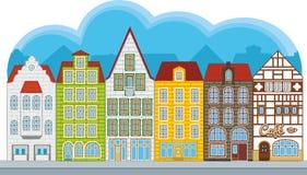 Grupo de casas pequenas ilustração do vetor