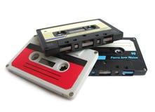 Grupo de cassetes de banda magnética Imagens de Stock