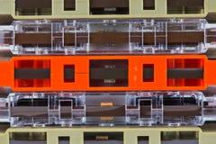 Grupo de cassetes de banda magnética velhas Imagem de Stock Royalty Free