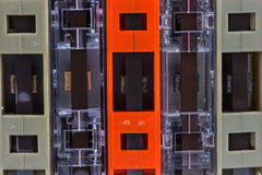 Grupo de cassetes de banda magnética velhas Imagens de Stock