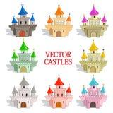 Grupo de castelos do vetor Fotografia de Stock Royalty Free