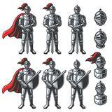 Grupo de cavaleiros da cor Fotografia de Stock
