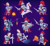 Grupo de cavaleiros nobres Imagem de Stock Royalty Free