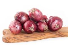 Grupo de cebolas vermelhas Fotografia de Stock