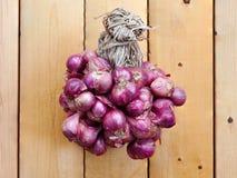 Grupo de cebolla roja Foto de archivo libre de regalías