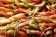 Grupo de cenouras orgânicas foto de stock royalty free