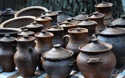 Grupo de cerâmica moderna Imagens de Stock