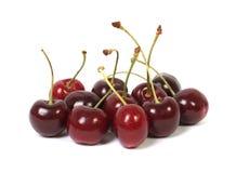 Grupo de cerejas frescas Imagem de Stock
