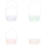 Grupo de cestas de easter do mosaico para colorir e projeto Isolado no fundo branco Imagem de Stock Royalty Free