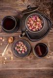 Grupo de chá do ferro fundido Imagem de Stock Royalty Free