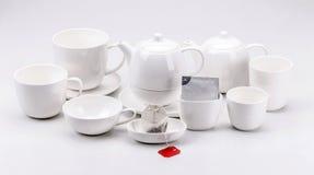 Grupo de chá moderno da porcelana foto de stock