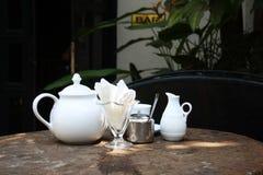 Grupo de chá na barra Imagem de Stock