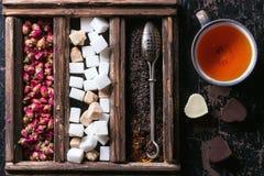 Grupo de chá seco Imagens de Stock Royalty Free