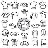 Grupo de chapéus do cozinheiro chefe Imagem de Stock Royalty Free