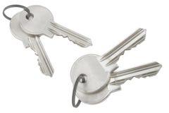 Grupo de chaves de prata Fotos de Stock