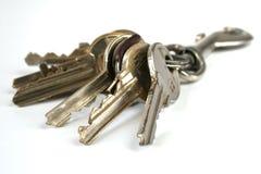 Grupo de chaves isoladas Imagem de Stock Royalty Free