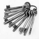 Grupo de chaves oxidado velho Imagem de Stock Royalty Free