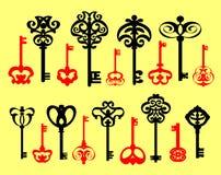 Grupo de chaves velhas Fotografia de Stock Royalty Free