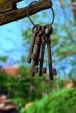 Grupo de chaves velhas Imagem de Stock Royalty Free