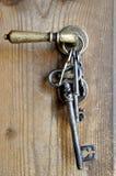 Grupo de chaves velhas do ferro Imagem de Stock Royalty Free