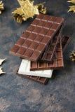 Grupo de chocolate doce do leite, o branco e o escuro fotos de stock royalty free