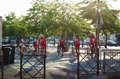 Grupo de ciclista Imagem de Stock