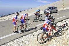 Grupo de ciclistas Imágenes de archivo libres de regalías