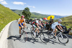 Grupo de ciclistas aficionados Foto de archivo libre de regalías