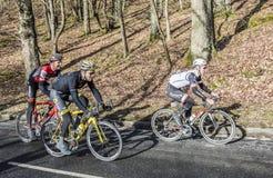 Grupo de ciclistas - 2017 Paris-agradável Fotos de Stock Royalty Free