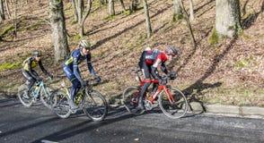 Grupo de ciclistas - 2017 Paris-agradável Foto de Stock