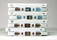 Grupo de cintas de cassette imagenes de archivo