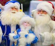 Grupo de cláusulas de Santa fotos de stock royalty free