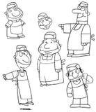 Grupo de cocineros de la historieta Foto de archivo