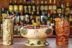 Grupo de cocktail exóticos imagem de stock
