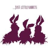 Grupo de coelhos bonitos dos desenhos animados Ilustração do vetor Fotografia de Stock Royalty Free