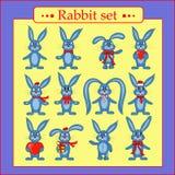 Grupo de coelhos no vetor ilustração do vetor